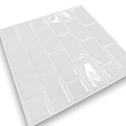 Anti Mold Peel And Stick Wall Tile In Subway White 4 Amazonca