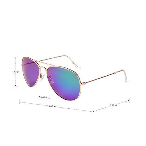Gold aviateur Frame Revo 85832 Cadre Premium Miroir soleil en Blue vivienfang de lens métal lunettes Full FTq6vP