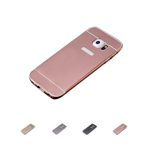E8Q de lujo ultra fina A prueba de golpes de aluminio caja del metal cubiertas para Samsung Galaxy S7 oro
