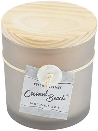 Coastal Cottage Coconut Beach Scented Frosted Jar Candle