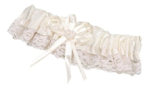 Darice P150-110-29, Lace Trim/Heart Garter, Cream