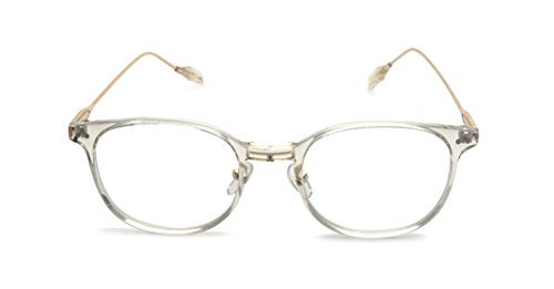 a24a307ce5 Kelens Vintage Retro Metal Temple Horn Rimmed Clear Lens Prescription  Glasses