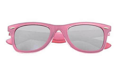 Eyekepper Classic 80's Vintage Polarized Sunglasses Pink/Silver Mirror]()