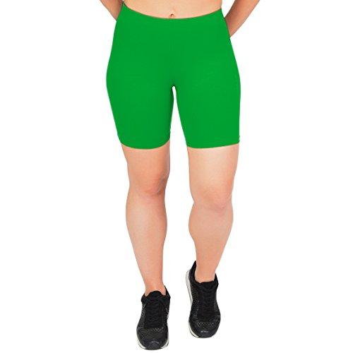 Stretch is Comfort Women's Cotton Bike Shorts Kelly Green 2X ()