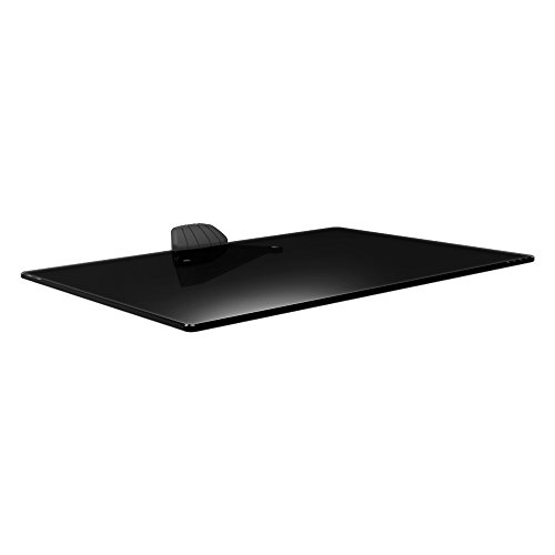 (Barkan Elegant Audio Video Tempered Glass Shelf, Up to 22 lbs, Easy Installation, Black, 5 Year Warranty.)