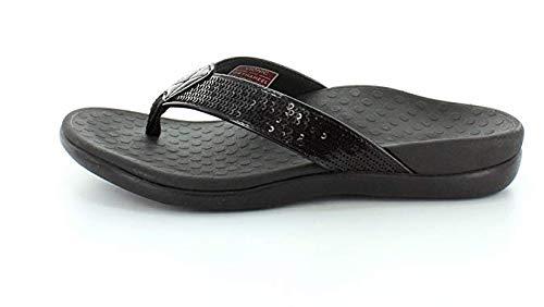 Vionic Tide Sequins Womens Orthotic Sandals (7 B(M) US, Black)
