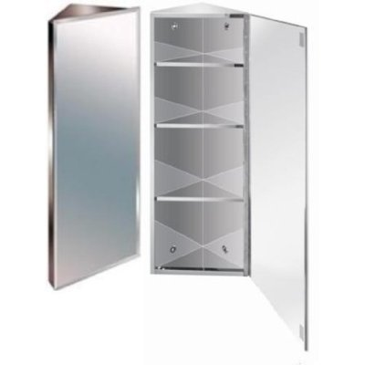 900mm Stainless Steel Mirror Bathroom Corner Cabinet: Amazon.co.uk ...