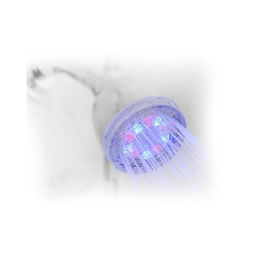 "Shower Wow LED Rainbow 3"" Diameter Shower Head | Water Pressure Powered (No Batteries) delicate"