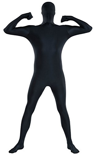 [Amscan Party Skin Suit Costume, Black, Adult X Large] (Quick Halloween Costume Ideas For Boys)