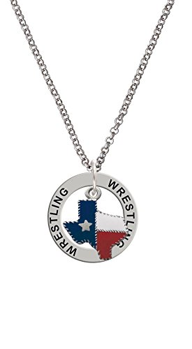 Texas with Rope Border - Wrestling Affirmation Ring Necklace by Delight Jewelry