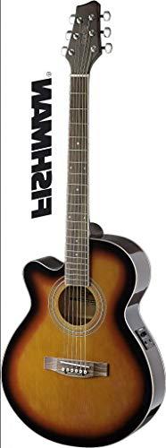 Mini Jumbo Cutaway Acoustic-Electric Concert Guitar - Brown Sunburst