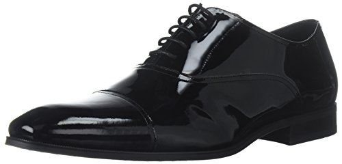 Florsheim Men's Tux Cap Toe Tuxedo Formal Oxford, Black Patent, 7.5 Wide