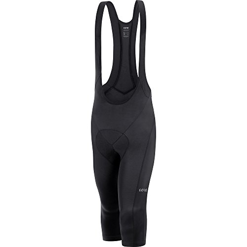 Shorts 3/4 Bib (Gore Wear Men's Breathable 3/4 Bike Bib Tights, With Seat Insert, C3 3/4 Bib Shorts +, Size: M, Color Black, 100032)