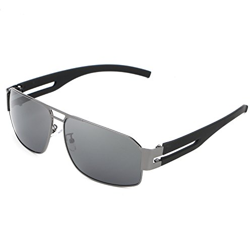HDCRAFTER Men's Rectangular Outdoor Driving Polarized - Sunglasses Hdcrafter