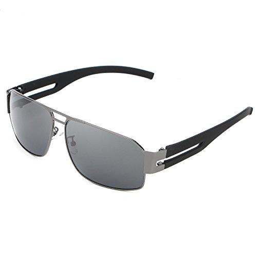 HDCRAFTER Men's Rectangular Outdoor Driving Polarized - Hdcrafter Sunglasses