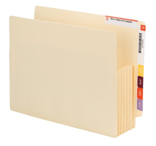 Smead End Tab Convertible File Pocket, Reinforced Split Score Tab, 5-1/4