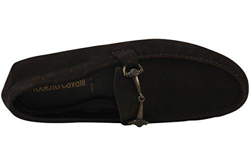 Roberto Cavalli Herenmode Schoenen Ebbenhout Suède Loafers 5122