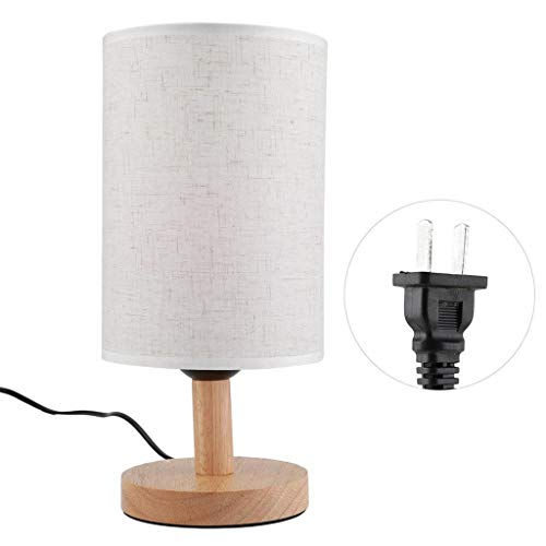 Topgee WiFi Smart Desk Lamp Simple Solid Wood Bedside Lamp