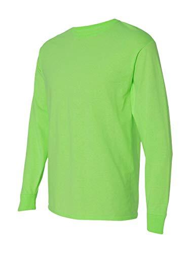 - Fruit of the Loom Adult 5 oz. Long-Sleeve T-Shirt, Neon Green, XL