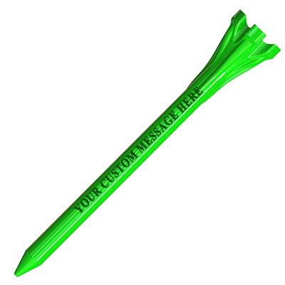 PrideSports 500 Personalized Custom FLYtees - Plastic Golf Tees - 1 Color Imprint 2-3/4'' Citrus Green