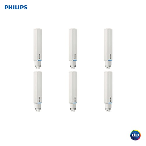 Philips LED 472837 LED Energy Saver PL-C Light Bulb 950-Lumen, 4000-Kelvin, 8.5 (26-Watt Equivalent), 4-Pin G24Q Base, Cool White, 6 Pack ()