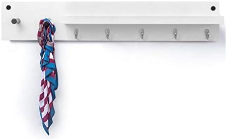 フローティング棚 フローティング壁棚木製壁掛け収納ディスプレイスタンド多機能ドアバックコートラックフック付き便利なぶら下げアイテム LFOZ (Color : White, Size : 7 hooks)