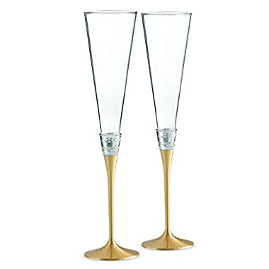 Wedgwood Vera Wang with Love Toasting Flute Pair, Gold