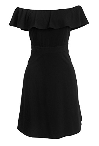 Luoqi Clothing Formal Tucnic Comfy Dresses- Prom Wedding Dresses(Black,XL) (Formal Dressesprom Gown)