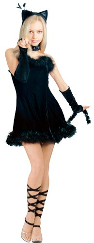 Secret Wishes  Kissable Kitty Costume, Black, Medium (Kitty Christmas Costumes)
