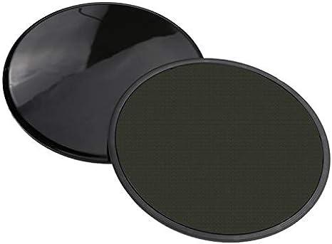 Workout Fitness Sliders Exercise Sliding Gliding Disc Pads Core Gym Black 2 Pcs