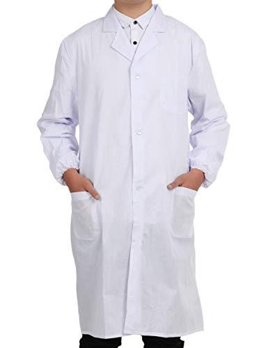 (Pinkpum Professionally Designed Unisex Lab Coat, White (M))