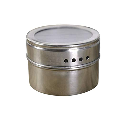 (OmkuwlQ Stainless Steel Barbecue Seasoning Pot Multifunctional Condiment Tank Kitchen Flavouring Box Grill Tool)