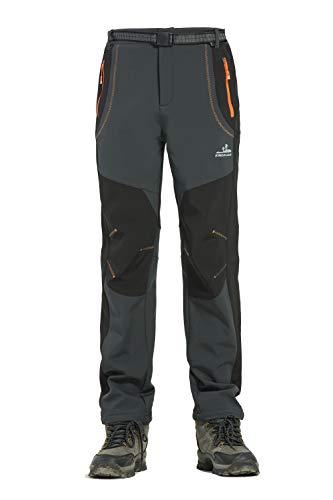 Rainbow Cloud Mens Outdoor Sport Pants Elastic Waist Warm Fleece Lining Waterproof Quick-Dry Trouser (L: Waist 33-37.0