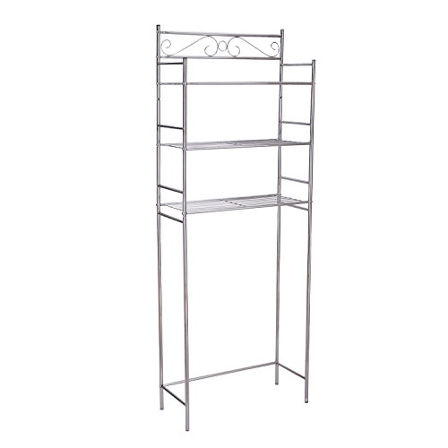 Adeco 10x25 Inches 3 Tier Bathroom Shelf Space Saver
