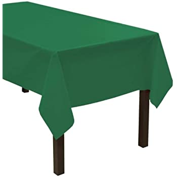 "Party Essentials Heavy Duty Plastic Table Cover Available in 44 Colors, 54"" x 108"", Kelly Green"
