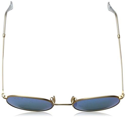 Gold Ban Redondas Gafas Metal sol Ray Matte de Round Gold Polarizadas Matte 50 R4wxqaZv