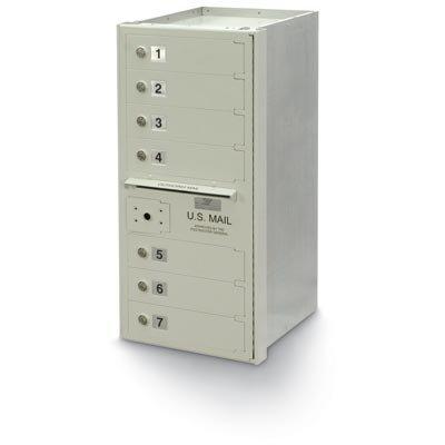 postalproducts N1027863 7-Door 4C High Security Horizontal Mailbox, 34.31
