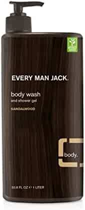 Every Man Jack Body Wash, Sandalwood, 33.8 Fluid Ounce