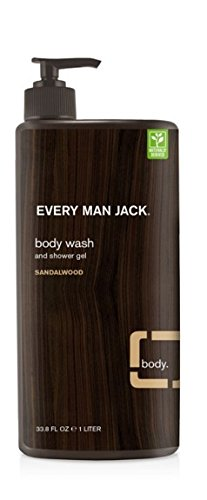 Every Man Jack Body Wash, Sandalwood, 33.8 Fluid Ounce Everyman Jack 878639006232
