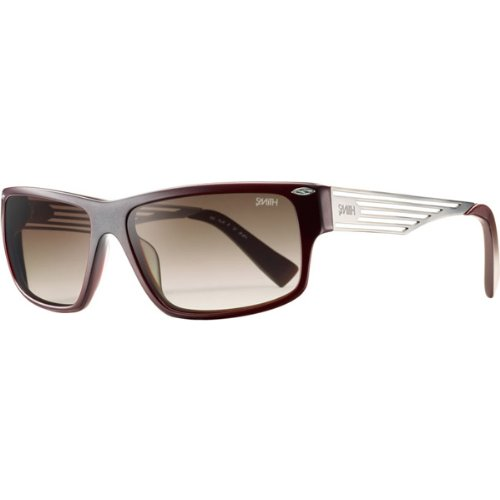 Smith Optics Editor Premium Lifestyle Sports Sunglasses - Matte Burgundy/Brown Gradient / Size 57-17-130