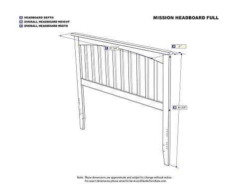 Atlantic Furniture Mission Headboard, Full, Natural