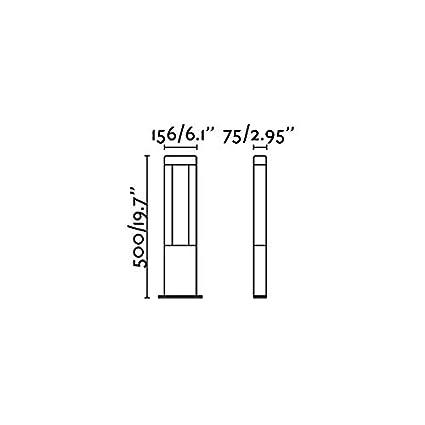 FARO 71216/ /Nanda Balise Gris fonc/é H500/LED 12,5/W 3000/K