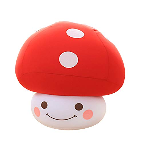 ABIA Mushroom Plush Stuffed Toys Cute and Comfort Mini Dolls Green Fresh Fruit Vegetable Pillow Food Shape Sofa Cushion Kids Toddler Dog Bedtime Toys (red)]()