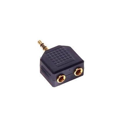 3.5mm interfaces à RCA mâle or adaptateur connecteur plaqué 2f