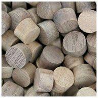 WIDGETCO 3/8'' Walnut Wood Plugs, Face Grain