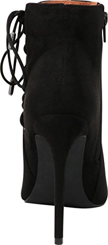 Side Lace Cambridge Imsu Toe Corset Stiletto Select High up Bootie Pointed Heel Closed Ankle Women's Black Zip Inner pRXfW0TrX