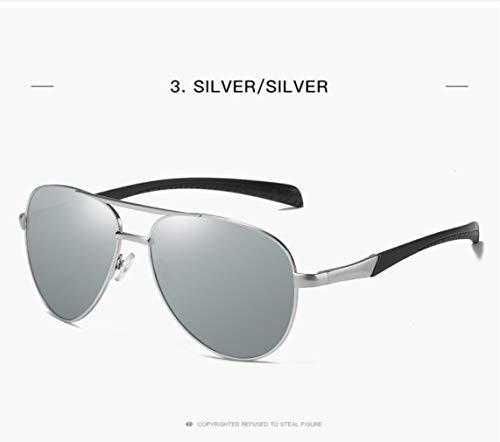 De Gafas 400 Polarized Mujer Style Protection para Sol Hombre Piloto silver para Y UV Classic Gold Sdpdwv