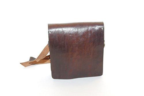 Umhängetasche aus Echtem Büffel-Leder Größe:28x25x6 cm
