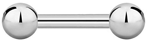16g 6mm Titanium Straight Barbell Body Piercing Jewelry, 3mm - Barbell 6mm Straight Balls