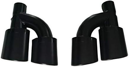 Embout d/échappement noir mat Duplex S Look A6 A7 C7 A4 B8 A5 Q5